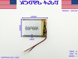 3.7V 600mAh 503040 Lithium Polymer LiPo Rechargeable Battery