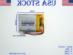 3.7V 700mAh 802535 Lithium Polymer LiPo Rechargeable Battery