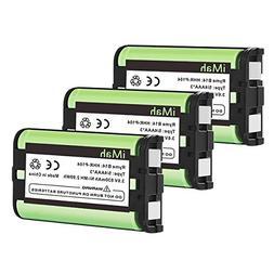 3-Pack iMah HHR-P104 Battery Compatible Panasonic HHR-P104A/