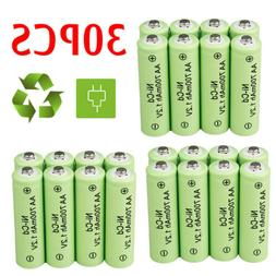 30 PACK 1.2v AA NiCd Rechargeable Ni-Cd Battery for Garden S