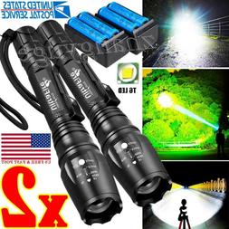 350000LM Rechargeable LED High Power Torch Flashlight Lights