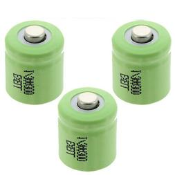 3x 1/3AA Rechargeable Batteries 1.2V Button Top  For LED Lig