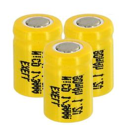 3x 1/3AAA 80mAh 1.2V Flat top Rechargeable Battery For Razor