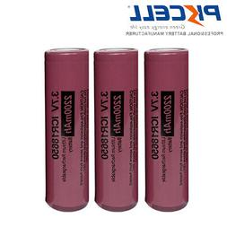 3x 18650 3.7V 2200mAh Lithium Rechargeable Battery Flat Top