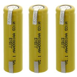 3x AA 1.2V 1000mAh Rechargeable Batteries w/Tabs For LED Lig
