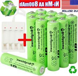 4-16 Pcs AA Rechargeable Batteries Ni-Mh 800mAh Battery+AAA/