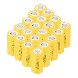 4-20pcs 42.5*22mm SC Sub C Type 1.2V 2200mAh NiCd NI-CD Rech
