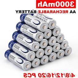 4-50pcs 3000mAh <font><b>AA</b></font> 2A NI-MH 1.2V <font><