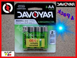 Rayovac 4 AA Rechargeable NiMH Ni-MH Battery Batteries 1350