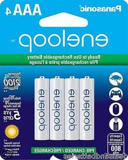 4 New Panasonic Eneloop AAA 800mAh 2100 Cycles Ni-MH Recharg