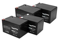 4 Pack ExpertPower 12 Volt 12 Ah Rechargeable Battery || EXP