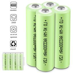 4 Pack 3300mAh AAA 3A AA Rechargeable Batteries Ni-MH 1.2V B