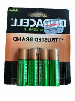 4/pack Duracell AA Rechargeable Batteries AA4 1.2V NiMH DX15