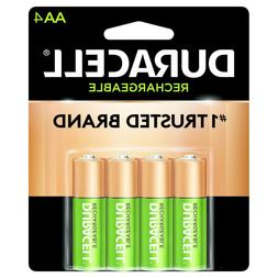 4/pack Duracell AA Rechargeable Batteries AA4 1.2V NiMH EXP