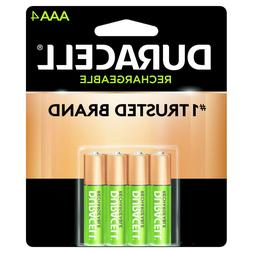 4/pack Duracell AAA Rechargeable Batteries AAA4 1.2V NiMH EX