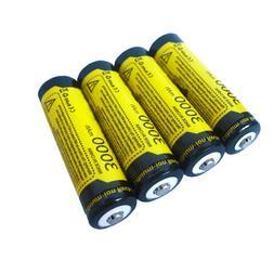 4 PACK  Rechargeable Battery 3000mAh 3.7V 1865O Li-ion Batte