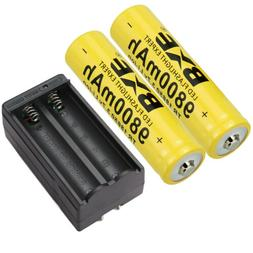 4 Pack Rechargeable Battery Li-ion 3.7V with Dual Smart Batt