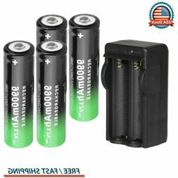 4 PCS Rechargeable Batteries Li-ion Battery Charger For Flas