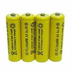 4 Piece Set AA NiCd 600mAh 1.2V Rechargeable Battery Househo