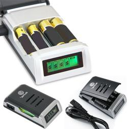 4 Slots Intelligent Battery Charger For AA /AAA NiCd NiMh Re