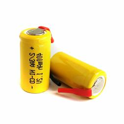 40 AA Ni-Cd Cd 1.2V 2/3AA 2/3 400mAh rechargeable battery Ni