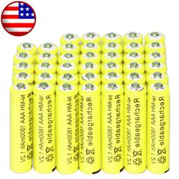 40x AAA battery batteries  Rechargeable NI-MH 1800mAh 1.2V