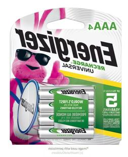 4CT Energizer Rechargeable AAA Batteries, NiMH, 700 mAh, Uni