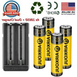 4pc brc 18650 battery li ion 3
