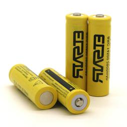 4pcs  14500 3.7V 2800mAH Lithium Li-ion Rechargeable Battery