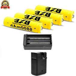 4pcs 18650 3.7V 9800mAh Li-ion Lithium Rechargeable BRC Batt