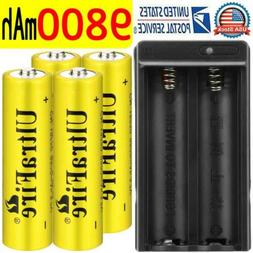 4PCS Skywolfeye 18650 Battery Rechargeable 3.7v 5000mAh Li-i