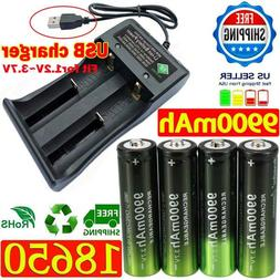 USA 4X Battery 3.7V Li-ion Rechargeable Batteries & Charger