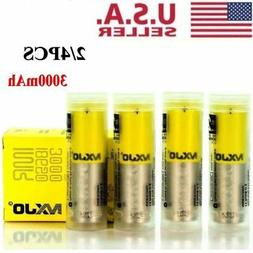 4Pcs 3000mAh MXJO2 IMR 18650 HIGH DRAIN 35A Rechargeable Lit