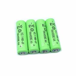 4PCS 3800mAh Ni-MH <font><b>AA</b></font> <font><b>Battery</