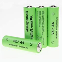 4pcs AA Alkaline Rechargeable Battery 1.5V for RC Clock MP3