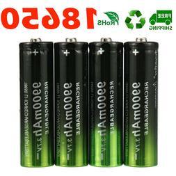 4pcs battery 9900mah 3 7v li ion