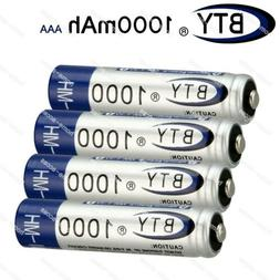 4pcs BTY Home Ni-MH AAA 1000mAh 1.2V Rechargeable Battery Fo
