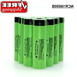 4Pcs Panasonic-NCR18650B High Drain Flat Top Battery 3400mAh