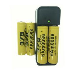 4pcs Rechargeable Battery 18650 3.7 Volts 9800 Mah Li Ion Ba