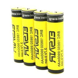 4pcs Rechargeable Battery 18650 batteries 3.7V Li-ion 9900mA