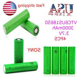 4PCS Sony VTC6 US18650 3000mAh Rechargeable Battery for G-Pr