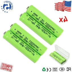 4X 1.2V NiMH AAA 1000mAh Rechargeable Battery Batteries for