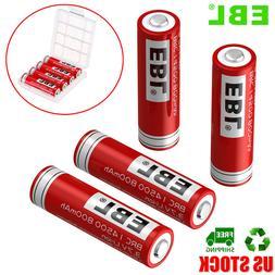4x EBL 14500 800mah 3.7V Protected Rechargeable Li-ion Batte
