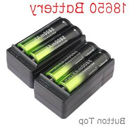 4X 18650 5800mAh Rechargeable Battery Li-ion 3.7V Batteries