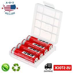 4x EBL 800mAh 3.7V 14500 Li-ion Rechargeable Batteries for L
