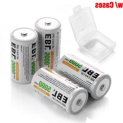 4x C Size 5000mAh Rechargeable Batteries 1.2V NIMH R14 High