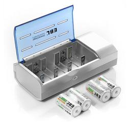 4x C Size 5000mAh Rechargeable Batteries + AA AAA 9V C D Siz