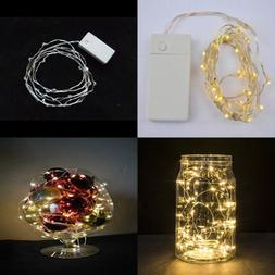 5.9 Ft Rechargeable Battery Operated Warm WHITE LED String L