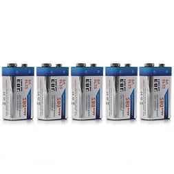 5x EBL 280mAh 9V 9 Volt 6F22 Ni-MH Nickel Metal Hydride Rech