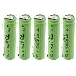 5x Exell 1.2V NIMH AAA 600mAh Rechargeable Batteries w/ Tabs